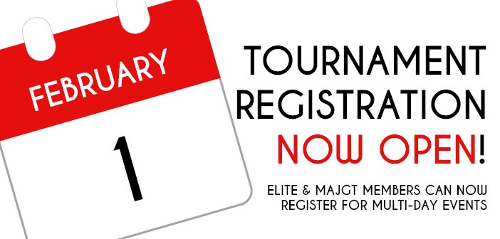 Tournament Registration Now Open for Elite & MAJGT Members!